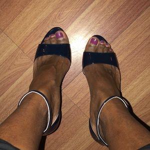 Chic! Royal Blue Prada sandals!! I own similar 😕